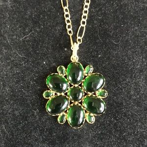 Julie collection chrome diopside pendant necklace